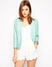 Linen blazer in Mint at Asos