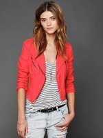 Linen moto jacket by Free People at Free People