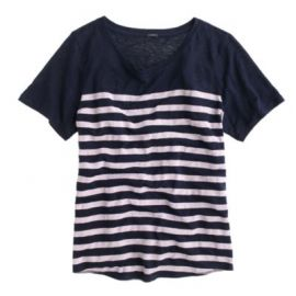 Linen striped T-shirt at J. Crew