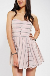 Linen striped dress by Lucca Couture at Urban Outfitters