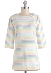 Lines Around the Block Top in Rainbow at ModCloth