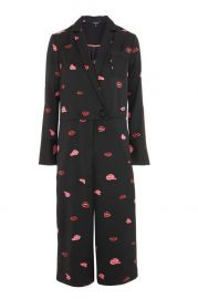 Lips Print Pyjama Jumpsuit at Topshop