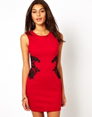 Lipsy  Lipsy Lace Applique Bodycon Dress at Asos