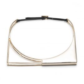 Liquid Gold Architectural Choker Necklace at Alexis Bittar