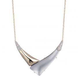 Liquid Gold with Crystal Accent V Shaped Necklace at Alexis Bittar