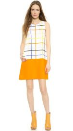 Lisa Perry Windowpane Combo Dress at Shopbop