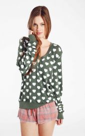 Little Hearts Jumper at Wildfox