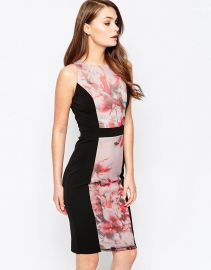 Little Mistress   Little Mistress Floral Pencil Dress at Asos