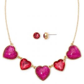 Liz Claibrne Crystal Heart Necklace at JC Penney
