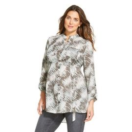 Liz Lange for Target Maternity Printed Button-down Tunic at Target