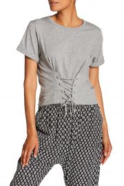 Lizeth Corset Lace-Up Tee at Nordstrom Rack
