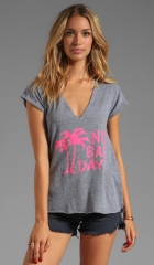 Local Celebrity No Bad Days Logan Tee in Heather Grey  REVOLVE at Revolve