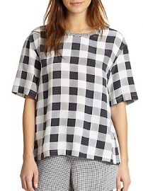 Logan Check Top at Saks Off 5th
