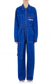 Logo-Embroidered Cotton Band Jumpsuit  Givenchy at Barneys