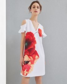 Lola Playful Poppy Cut-out Shoulder Dress at Ted Baker
