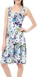 London Times Womens Watercolor Floral Print Dress at Amazon