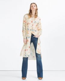 Long Asymmetric Shirt at Zara
