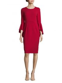 Long Bell Sleeve Sheath Dress Maggy London at Saks Off 5th