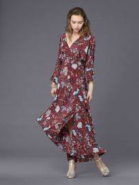 Long Sleeve Asymmetric Hem Dress by Diane von Furstenberg at Diane von Furstenberg