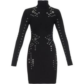 Long Sleeve Grommet Detailed Dress by Thierry Mugler at Bergdorf Goodman