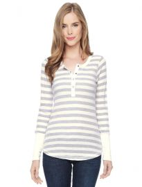 Long Sleeve Henley Set at Splendid