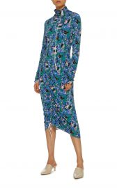 Long Sleeve Printed Dress by Marni at Moda Operandi