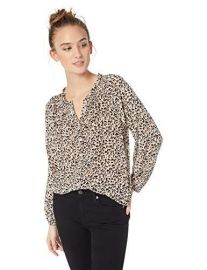 Long Sleeve Silk Smock Top at Amazon