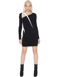 Long Sleeve Stretch Cady Dress at Luisaviaroma