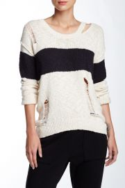 Long Sleeve Stripe Sweater at Nordstrom Rack