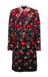 Long Sleeve Tunic Dress With Collar by Lela Rose at Moda Operandi