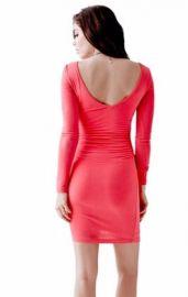Long Sleeve Vback Dress at Guess