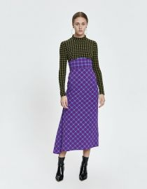 Long Stretchy Plaid Converge Dress by Rachel Comey at Need Supply