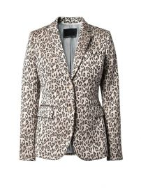 Long and Lean-Fit Leopard-Print Blazer at Banana Republic
