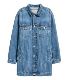 Long denim jacket at H&M