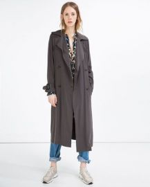 Long flowing trench coat at Zara