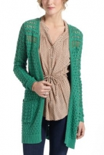 Long green cardigan like Scarletts at Anthropologie
