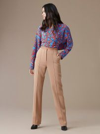 Long-sleeve Crossed Cropped Top by Diane von Furstenberg at DvF
