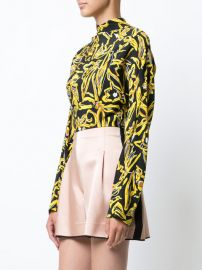 Long-sleeve raglan high neck blouse at Farfetch
