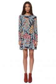 Long sleeve swing dress at Mara Hoffman