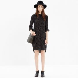 Long sleeve tunic dress in dot at Madewell