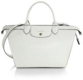Longchamp - Le Pliage Heritage Saffiano-Leather Satchel at Saks Fifth Avenue