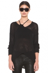 Looped Cotton Asymmetrical Pullover at Forward by Elyse Walker