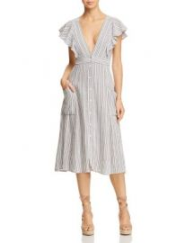 Lost   Wander Kika Ruffled Striped Midi Dress   Bloomingdale  39 s at Bloomingdales