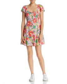 Lost and Wander Lost   Wander Mai Tai Tropical Floral Mini Dress Women - Bloomingdale s at Bloomingdales