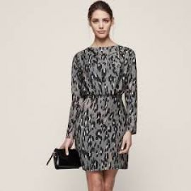 Lotta Leopard Print Dress at Reiss