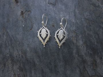 Lotus Drop Earrings at Etsy