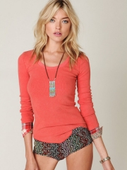 Lou Flannel Cuff Thermal at Free People