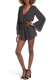Love  Fire Star Print Romper at Nordstrom
