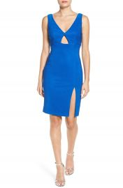 Love  Nickie Lew Keyhole Sheath Dress at Nordstrom