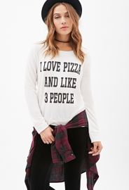 Love Pizza and People Top at Forever 21